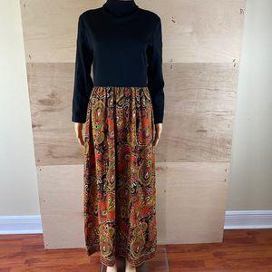 Vintage 70's Domino Fashions Maxi dress